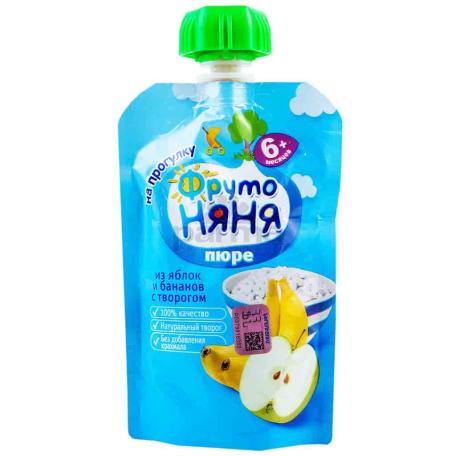 Խյուս «Фруто Няня» բանան, խնձոր 6+ 90գ