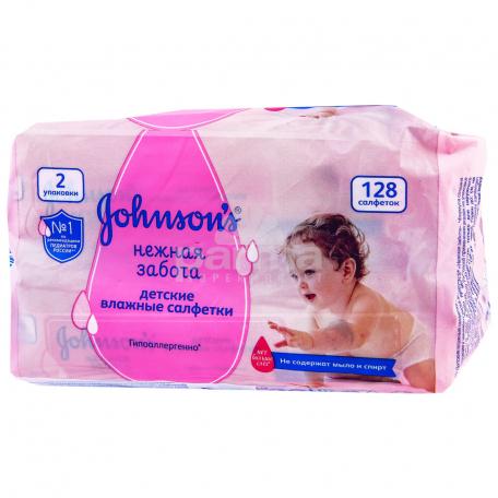Անձեռոցիկ խոնավ  «Johnson`s Baby» 128 հատ