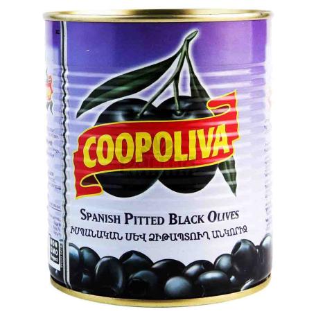 Ձիթապտուղ «Coopoliva» սև, անկորիզ 850գ