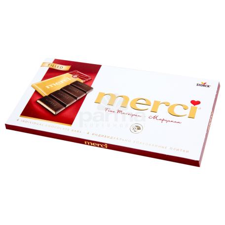Շոկոլադե սալիկ «Merci» մարցիպան 112գ