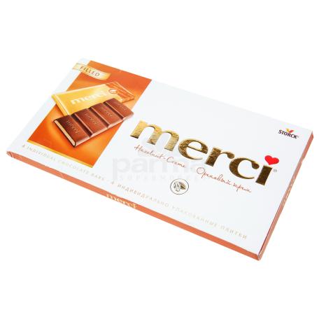Շոկոլադե սալիկ «Merci» ընկույզի կրեմ 112գ