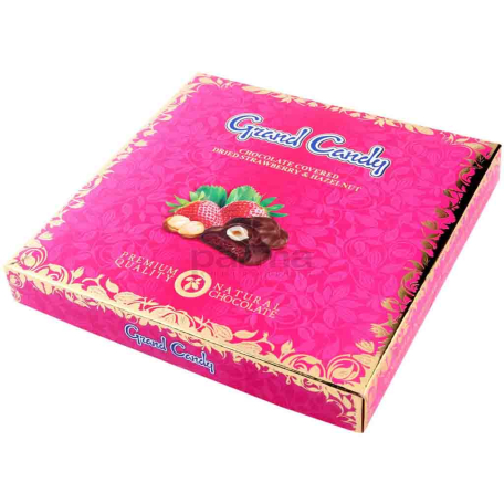 Շոկոլադե կոնֆետներ «Գրանդ Քենդի» ելակի չիր 180գ