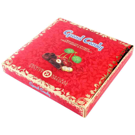 Շոկոլադե կոնֆետ «Գրանդ Քենդի» բալ, պնդուկ 170գ