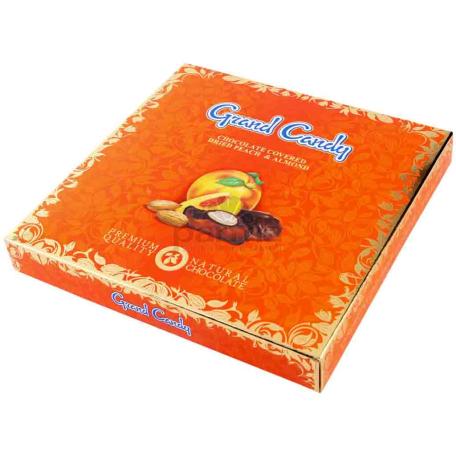 Շոկոլադե կոնֆետներ «Գրանդ Քենդի» դեղձ, նուշ 190գ
