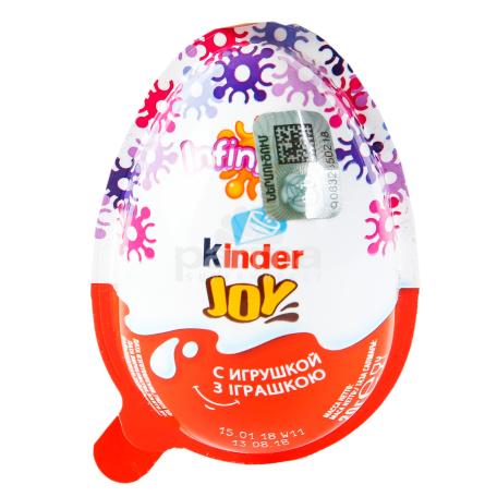 Шоколадное яйцо `Kinder Joy` для девочек 20г