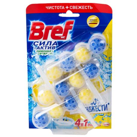 Մաքրող միջոց զուգարանակոնքի «Bref 4 in 1» 3x50գ