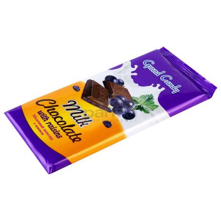 Շոկոլադե սալիկ «Գրանդ Քենդի» չամիչ 90գ