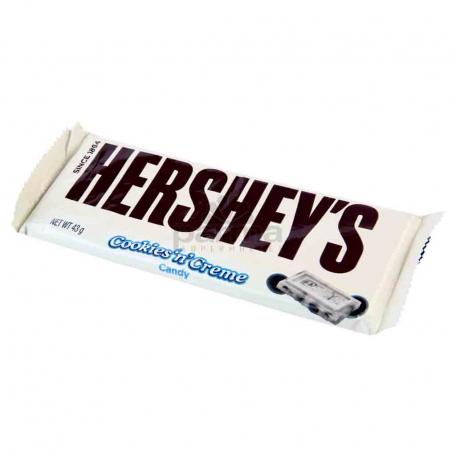 Շոկոլադե սալիկ «Hershey՝s Cookies՝n Creme» 43գ