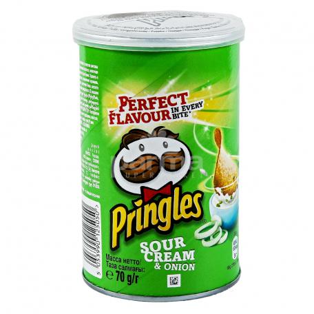 Չիպս «Pringles» թթվասեր, սոխ 70գ
