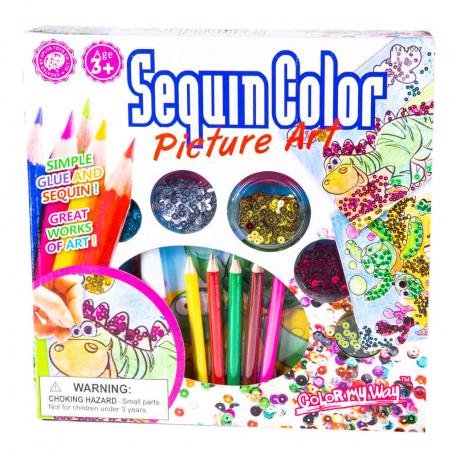 Մանկական հավաքածու «Sequin Color Picture Art»