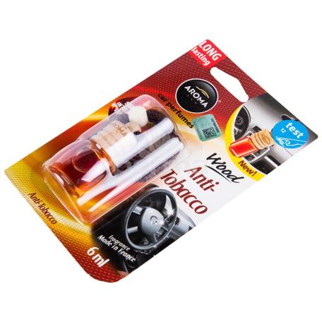 Մեքենայի բույր «Aroma Wood Anti-Tobacco» 6մլ
