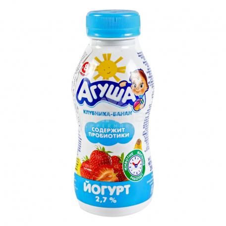 Յոգուրտ ըմպելի «Агуша» բանան, ելակ 2.7% 200գ