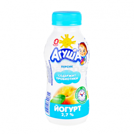 Յոգուրտ ըմպելի «Агуша» բանան, դեղձ 2.7% 200գ