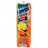 Հյութ բնական «Santal» գազար, արևադարձային մրգեր 1լ