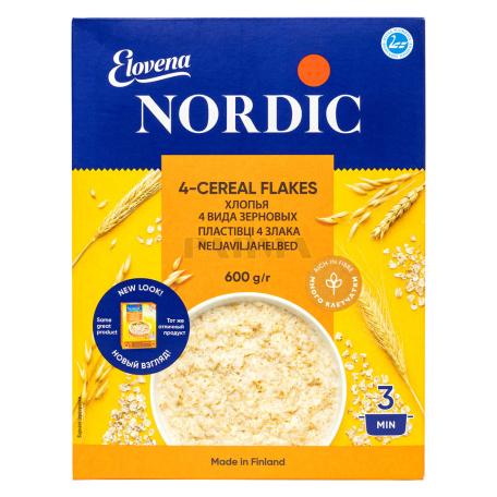 Փաթիլներ «Nordic» 4 տեսակի հացահատիկներ 600գ