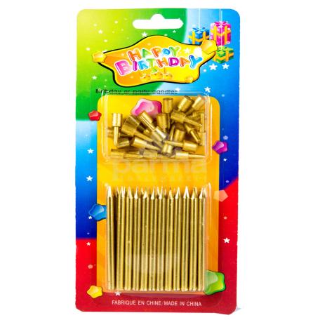 Մոմ «Happy Birtday» 24 հատ