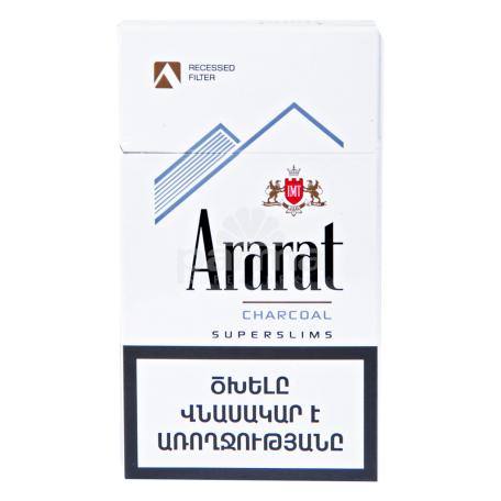 Ծխախոտ «Ararat Recessed Charcoal Superslims»