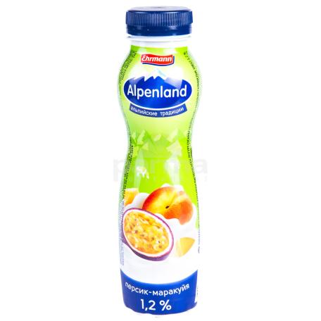 Յոգուրտ ըմպելի «Ehrmann Alpenland» դեղձ, մարակույա 1.2% 290գ