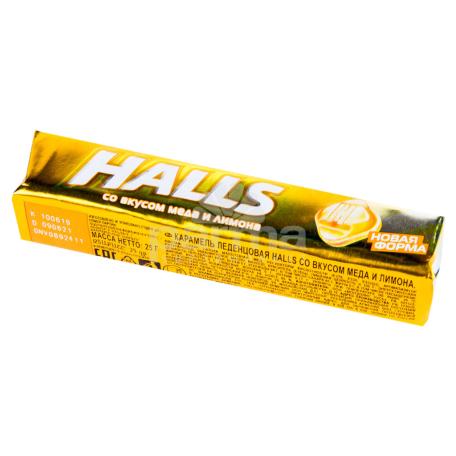 Սառնաշաքար «Halls» մեղր, կիտրոն 25գ