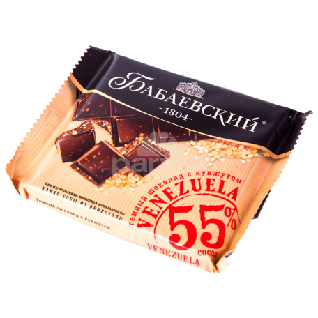 Շոկոլադե սալիկ «Бабаевский Venezuela» մուգ շոկոլադ, քունջութ 90գ