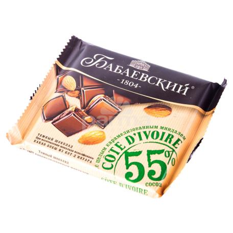Շոկոլադե սալիկ «Бабаевский» մուգ շոկոլադ, նուշ 90գ