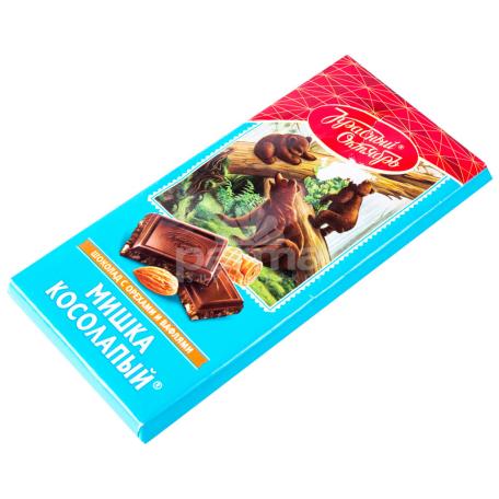 Շոկոլադե սալիկ «Мишка Косолапый» նուշով 75գ