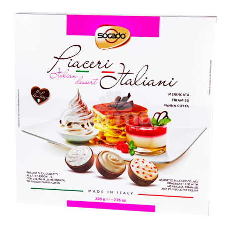 Շոկոլադե կոնֆետներ «Socado Piaceri Italiani» 220գ