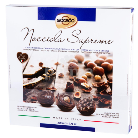 Շոկոլադե կոնֆետներ «Socado Nocciola Supreme» 220գ