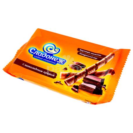 Վաֆլե ձողիկներ «Сладонеж» շոկոլադե 175գ
