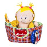 Փափուկ խաղալիք «Մանկան» տիկնիկը պայուսակում