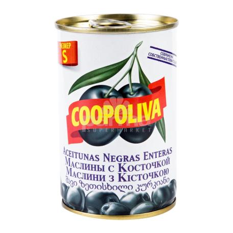 Ձիթապտուղ «Coopoliva» սև, կորիզով 300գ