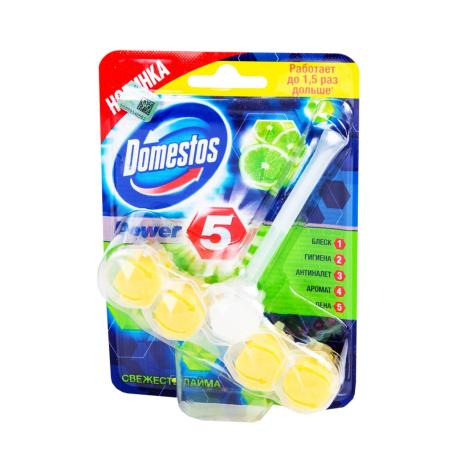 Զուգարանակոնքի կախիչ «Domestos» լայմ 55գ