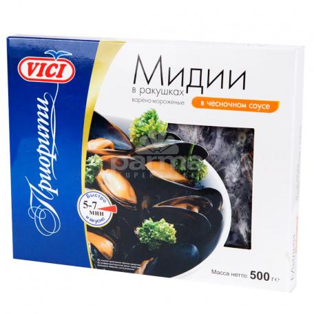 Միդիա «Vici» եփած սառեցված սխտորի հյութի մեջ 500գ