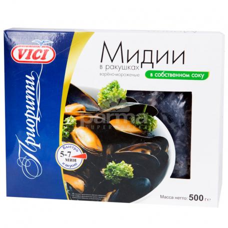 Միդիա «Vici» եփած սառեցված սեփական հյութի մեջ 500գ
