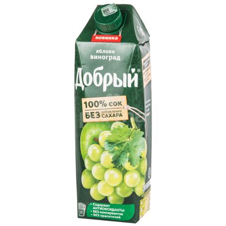 Հյութ բնական «Добрый» խնձոր, խաղող 1լ