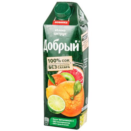 Հյութ բնական «Добрый» խնձոր, ցիտրուս 1լ