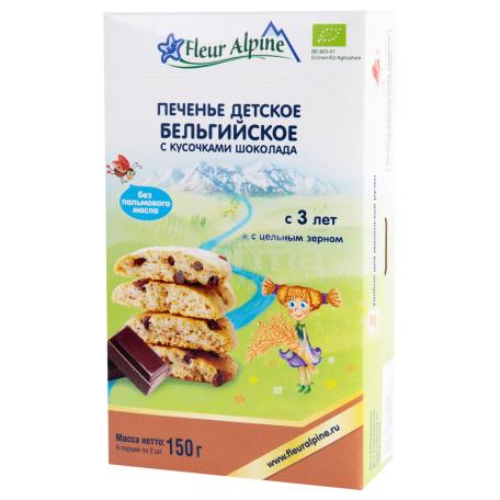 Թխվածքաբլիթ «Fleur Alpine» բելգիական շոկոլադով 150գ