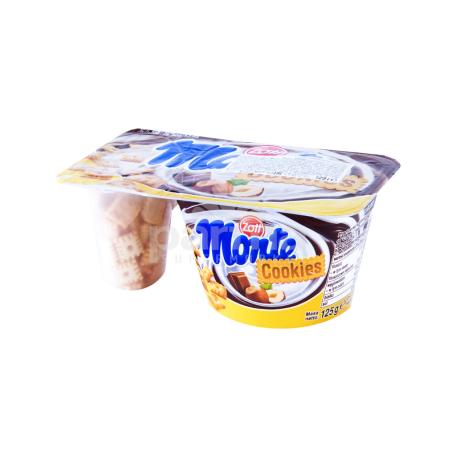 Աղանդեր «Zott Monte Cookies» պնդուկ, շոկոլադ, թխվածքաբլիթ 13.1% 125գ