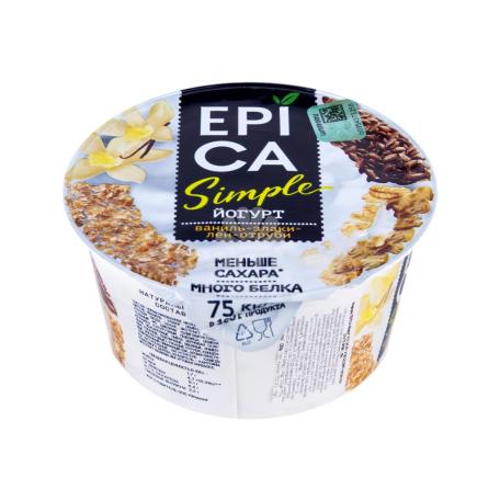 Յոգուրտ «Epica» վանիլ, հացահատիկ 1․7% 130գ