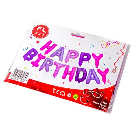 Փուչիկ «Fl Sjy Happy Birthday»