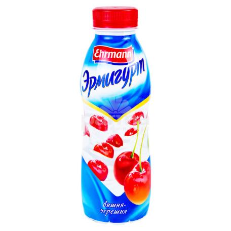 Յոգուրտ ըմպելի «Ehrmann Эрмигурт» բալ, կեռաս 1.2% 420գ