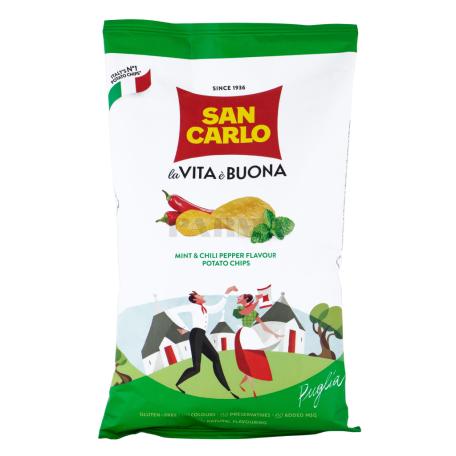 Չիպս «San Carlo la Vita è Buona» անանուխ, կծու պղպեղ  150գ