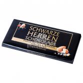 Շոկոլադե սալիկ «Schwarze Herren Schokolade» ծովի աղ, նուշ 100գ