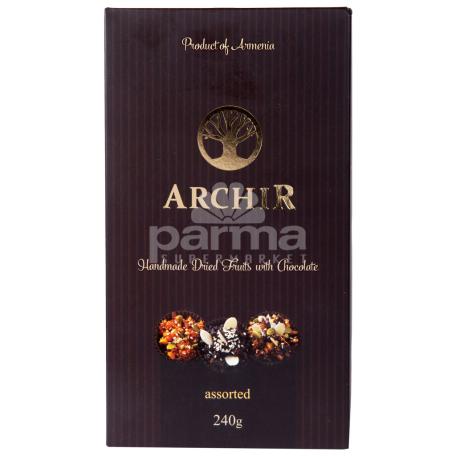 Շոկոլադե կոնֆետներ «Արչիր» չրերի տեսականի 240գ
