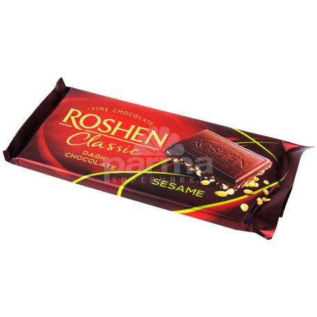 Շոկոլադե սալիկ «Roshen Classic» մուգ շոկոլադ, քունջութ 90գ