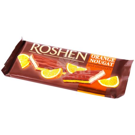 Շոկոլադե սալիկ «Roshen» կաթնային շոկոլադ, նարինջ, նուգա 90գ