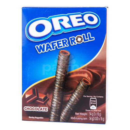Վաֆլե ձողիկներ «Oreo» շոկոլադ 54գ