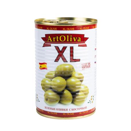 Ձիթապտուղ «Art Oliva XL» կանաչ 400գ