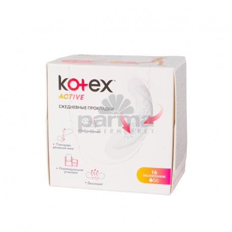 Միջադիր ամենօրա  KOTEX  active 16հատ