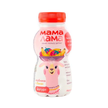 Յոգուրտ ըմպելի «Epica Мама Лама» ելակ, բանան 2.5% 200գ